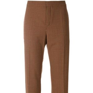 Chloe checked cropped trousers size 40 EU NWOT